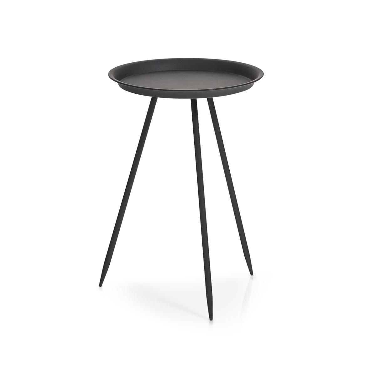 Masuta de cafea Space, Metal Black, Ø 29,5xH44 cm imagine