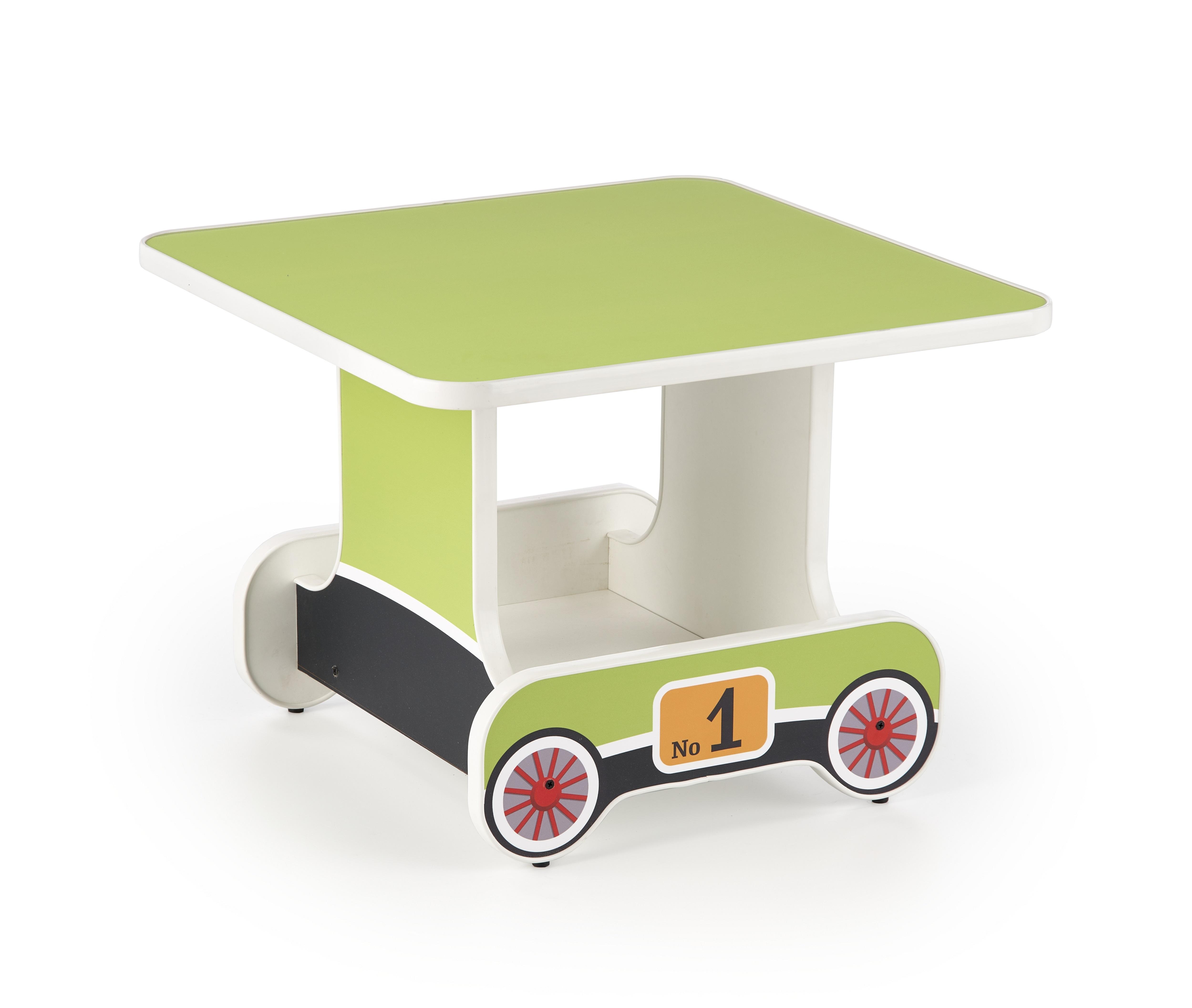 Masuta pentru copii, din pal Lokomo Verde, L60xl60xH45 cm imagine
