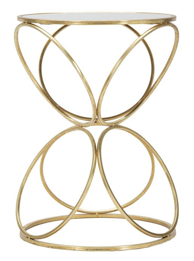 Masuta Suport Telefon Sticla Metal Circly Auriu