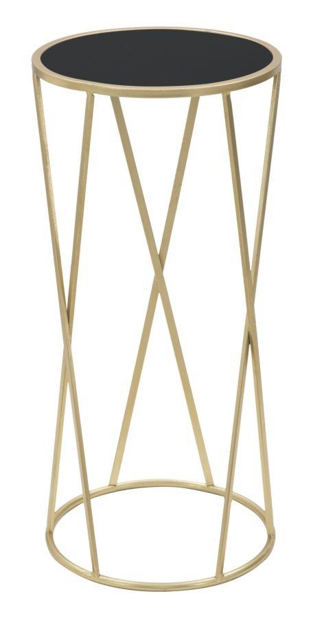 Masuta Suport Telefon Sticla Metal Glam Simple Auriu Negru