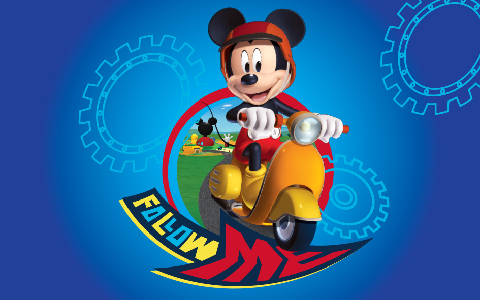 Covor Kids Mickey Mouse Motoret, Imprimat Digital