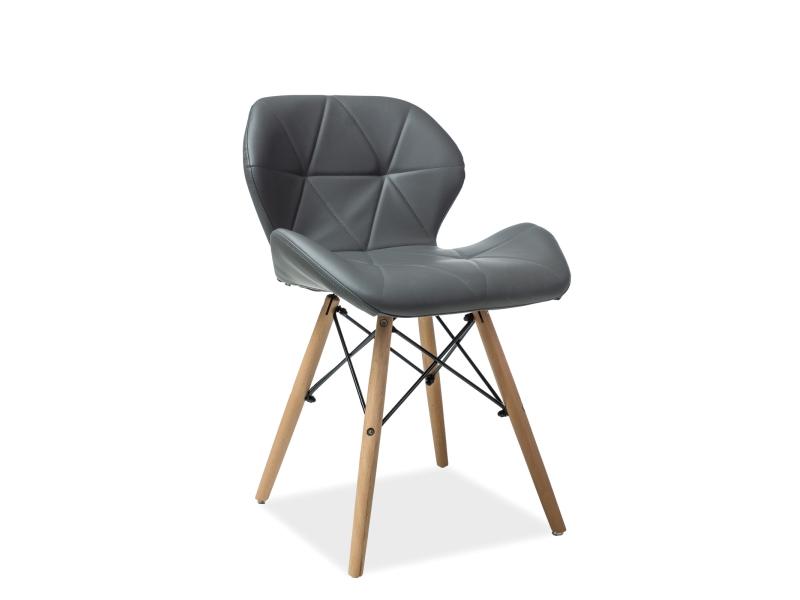 Scaun din lemn tapitat Matias Grey