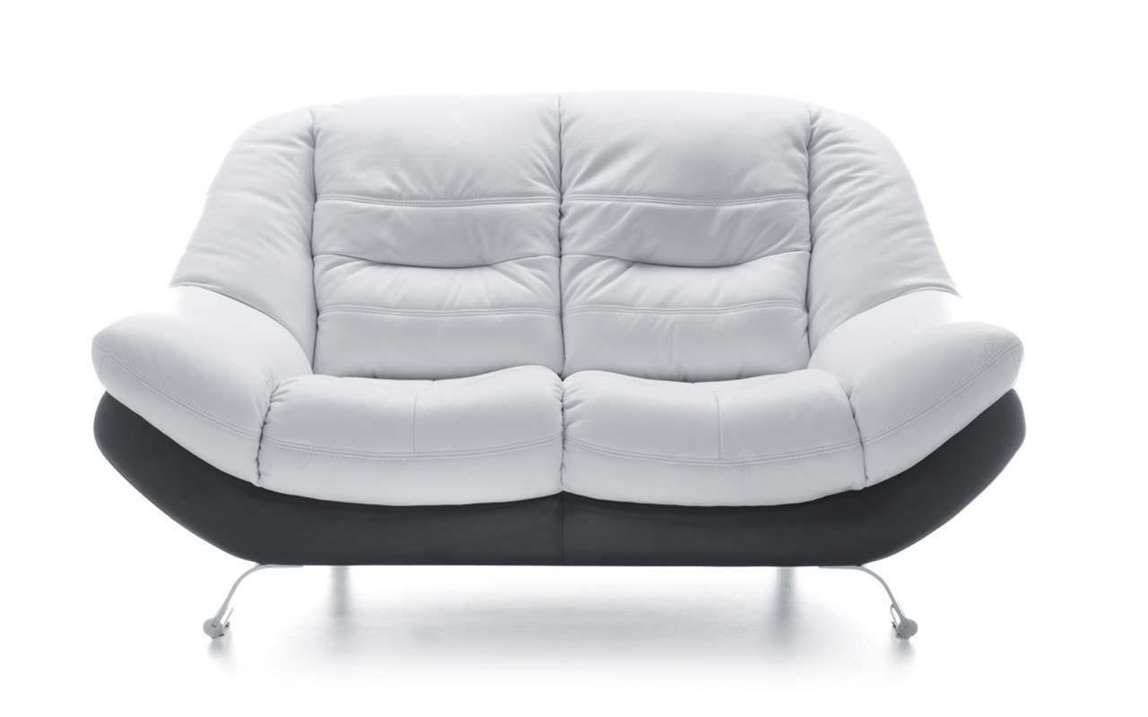 Canapea 2 locuri Mello White & Black