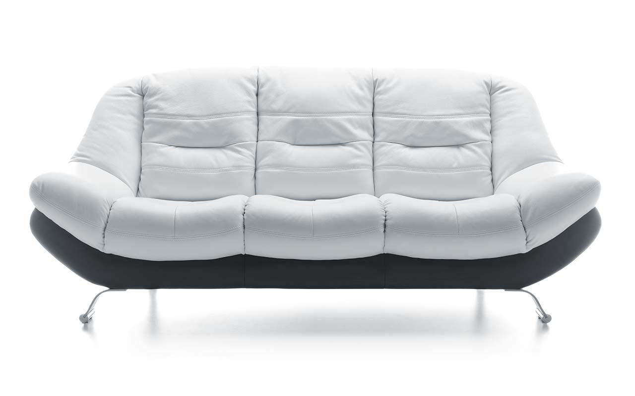 Canapea 3 locuri Mello White & Black