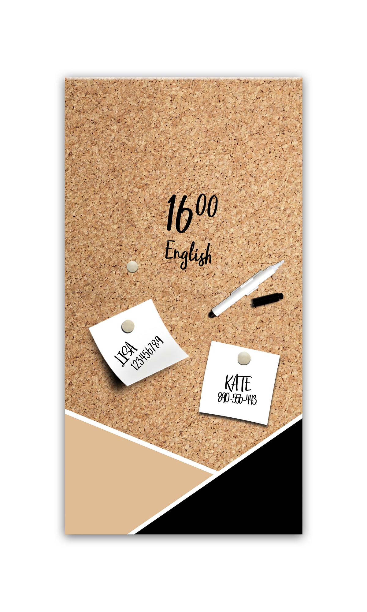 Memo Board Corck MB126 30 x 60 cm
