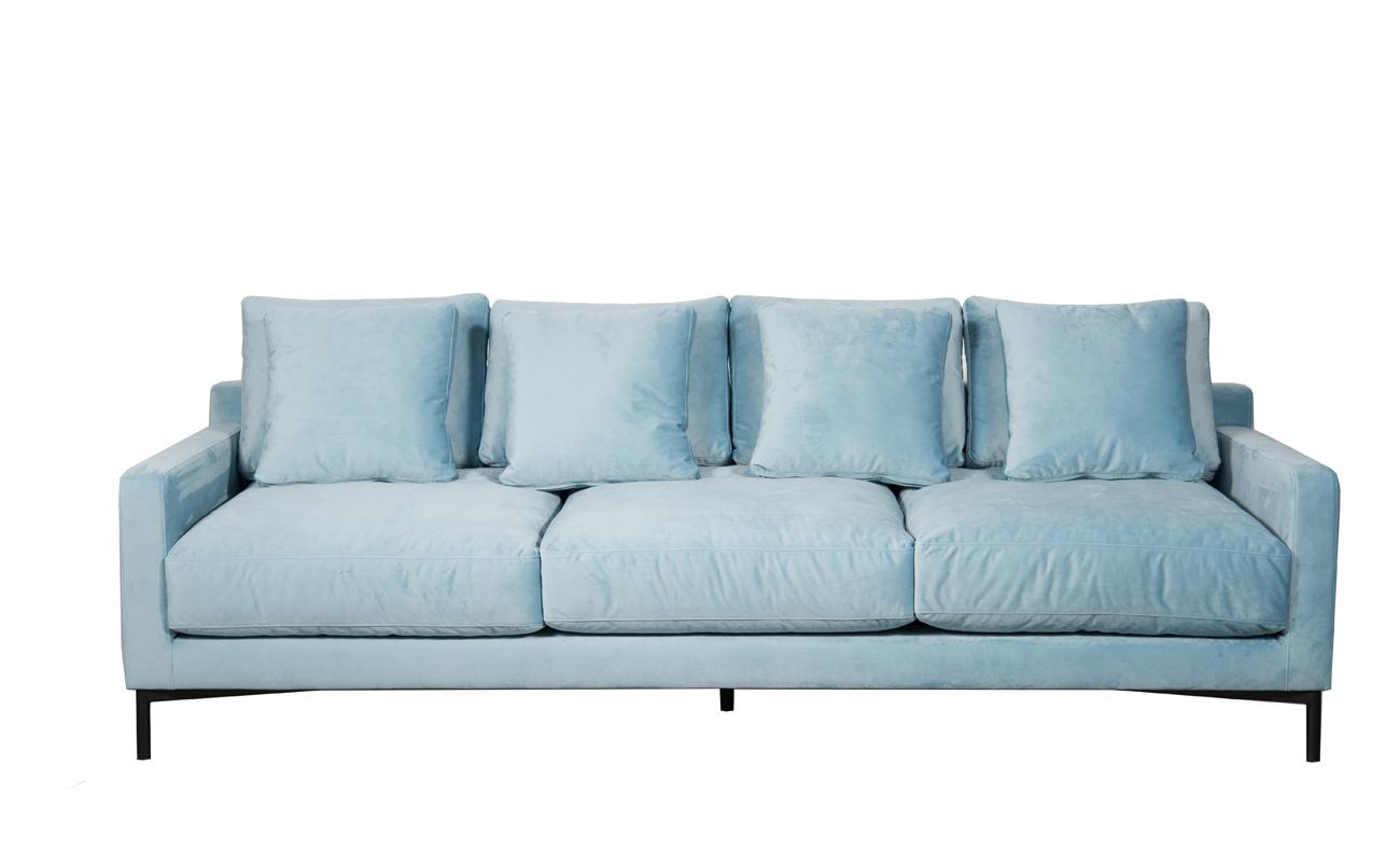 Canapea fixa 3,5 locuri Messina Blue