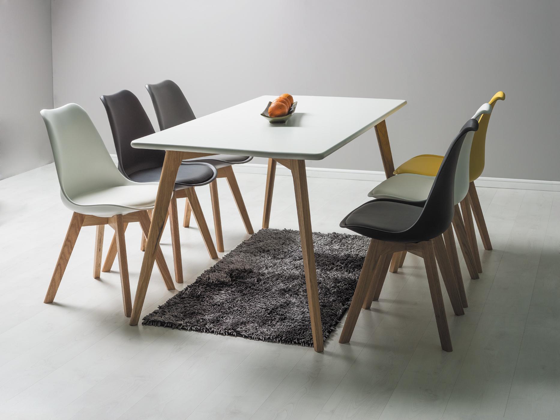 Set Masa Milan 160 + 6 scaune