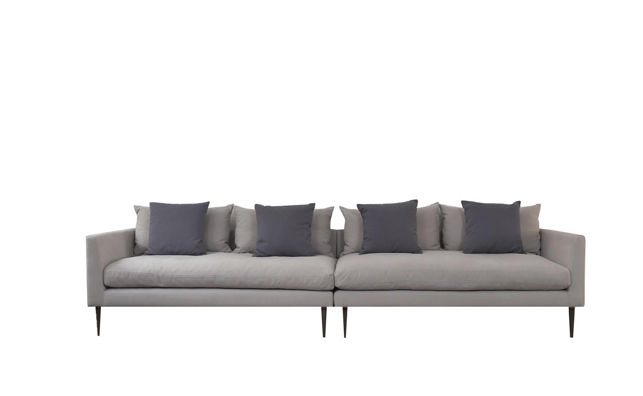 Canapea fixa 2 x 2,5 locuri Milan Sand