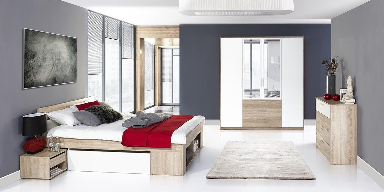 Set Mobila Dormitor 3 piese Milo imagine