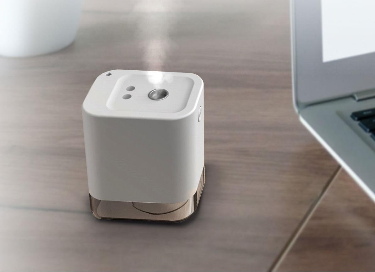 Mini dispenser portabil cu senzor automat pentru dezinfectare, Model D8001, 45 ml, Cablu USB, Vision M, Alb, Sercair