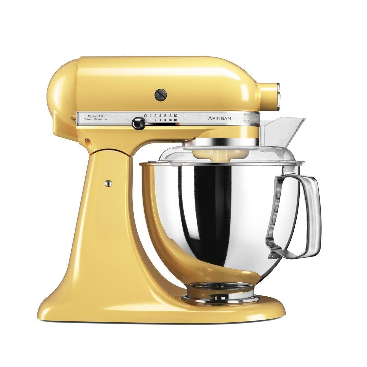 Mixer Cu Bol Artisan Elegance 5ksm175psemy, 4,8 L, Yellow, 300w, Kitchenaid