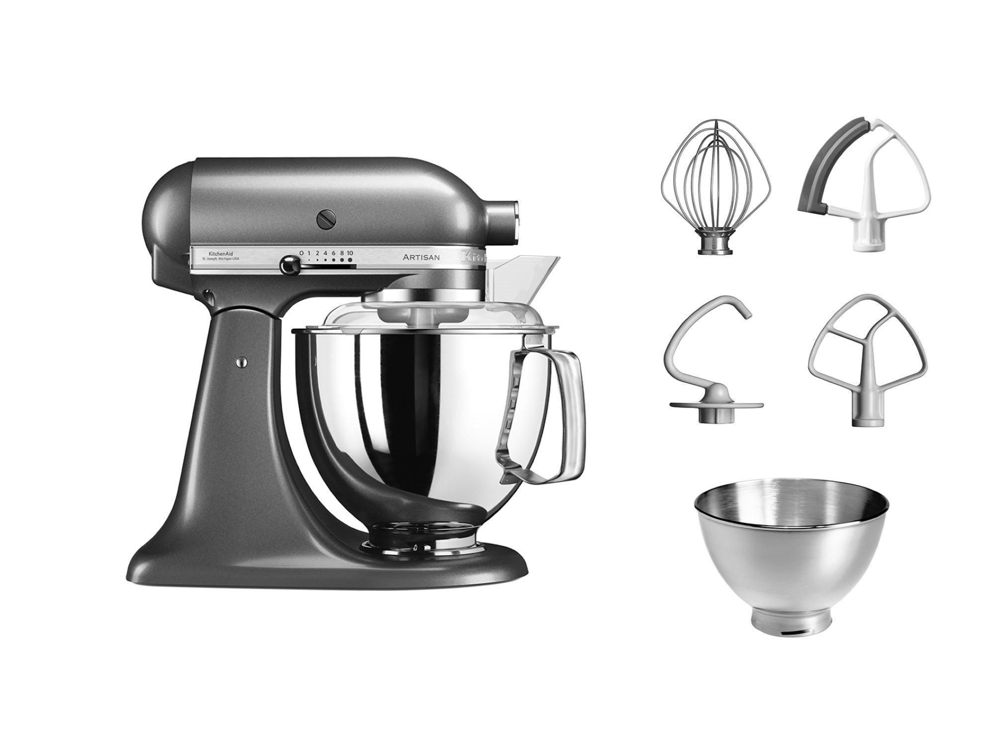 Mixer Bol Artisan Elegance Ksm Psems Medallion Silver Kitchenaid