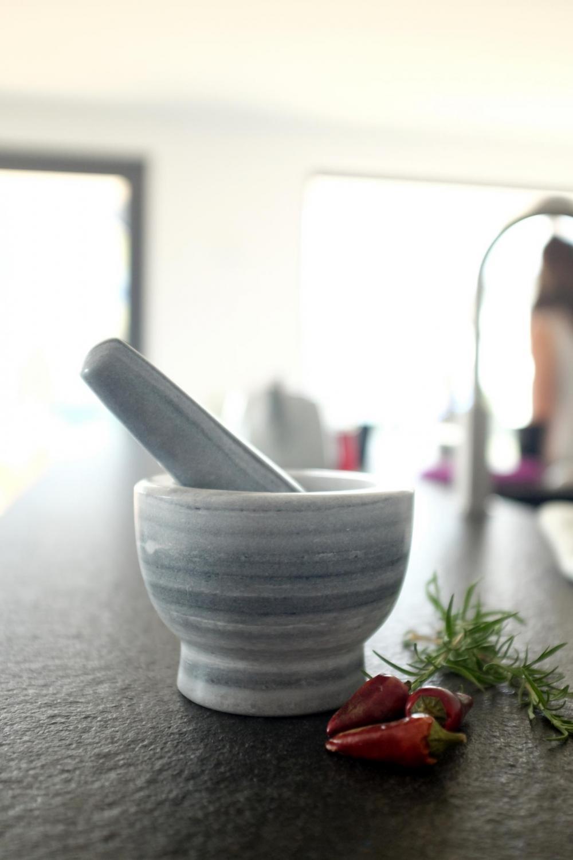 Mojar cu pistil din marmura, Grey Stone Ø 12xH9 cm imagine