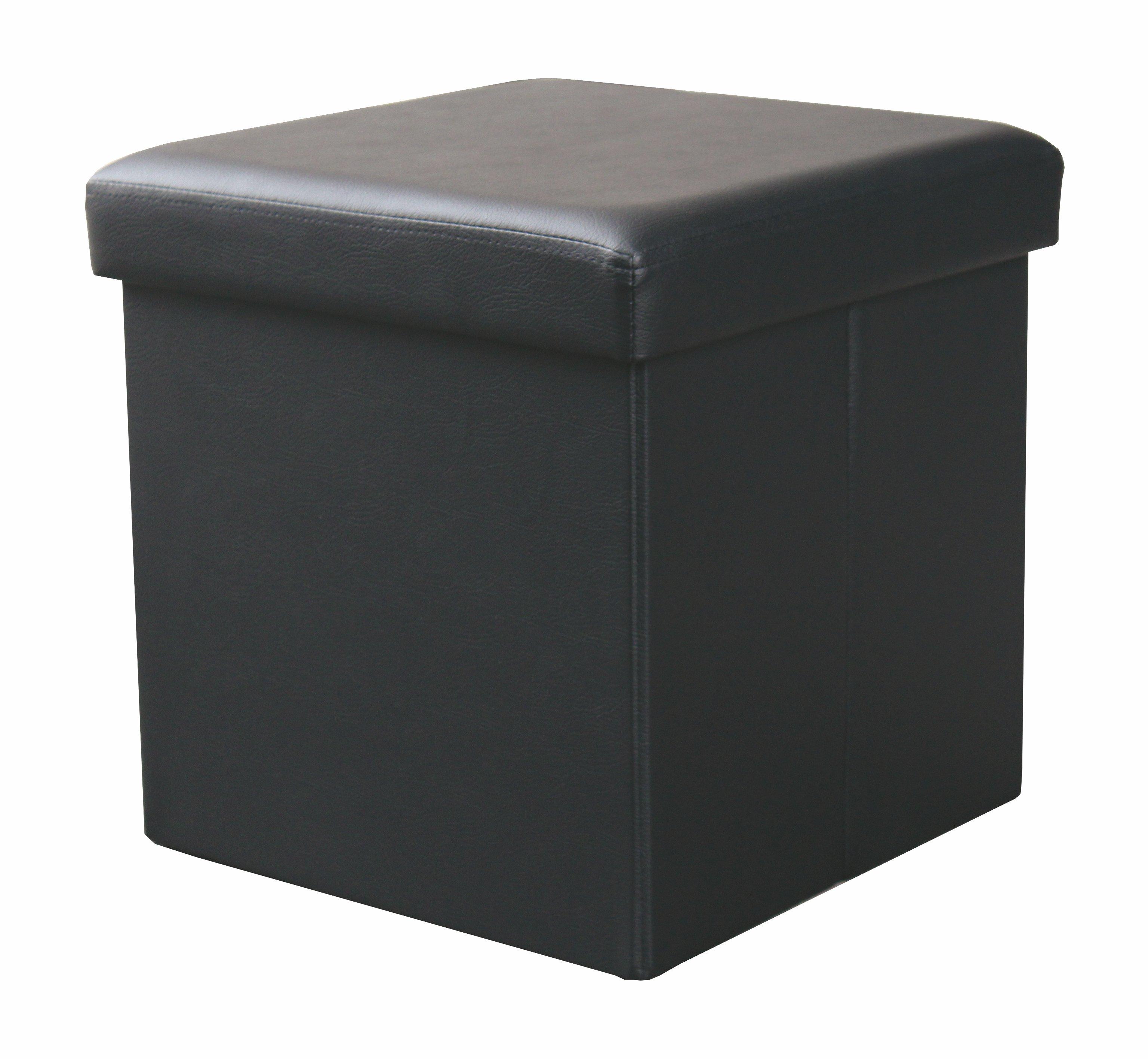 Taburet cu spatiu de depozitare Moly Black l38xA38xH38 cm