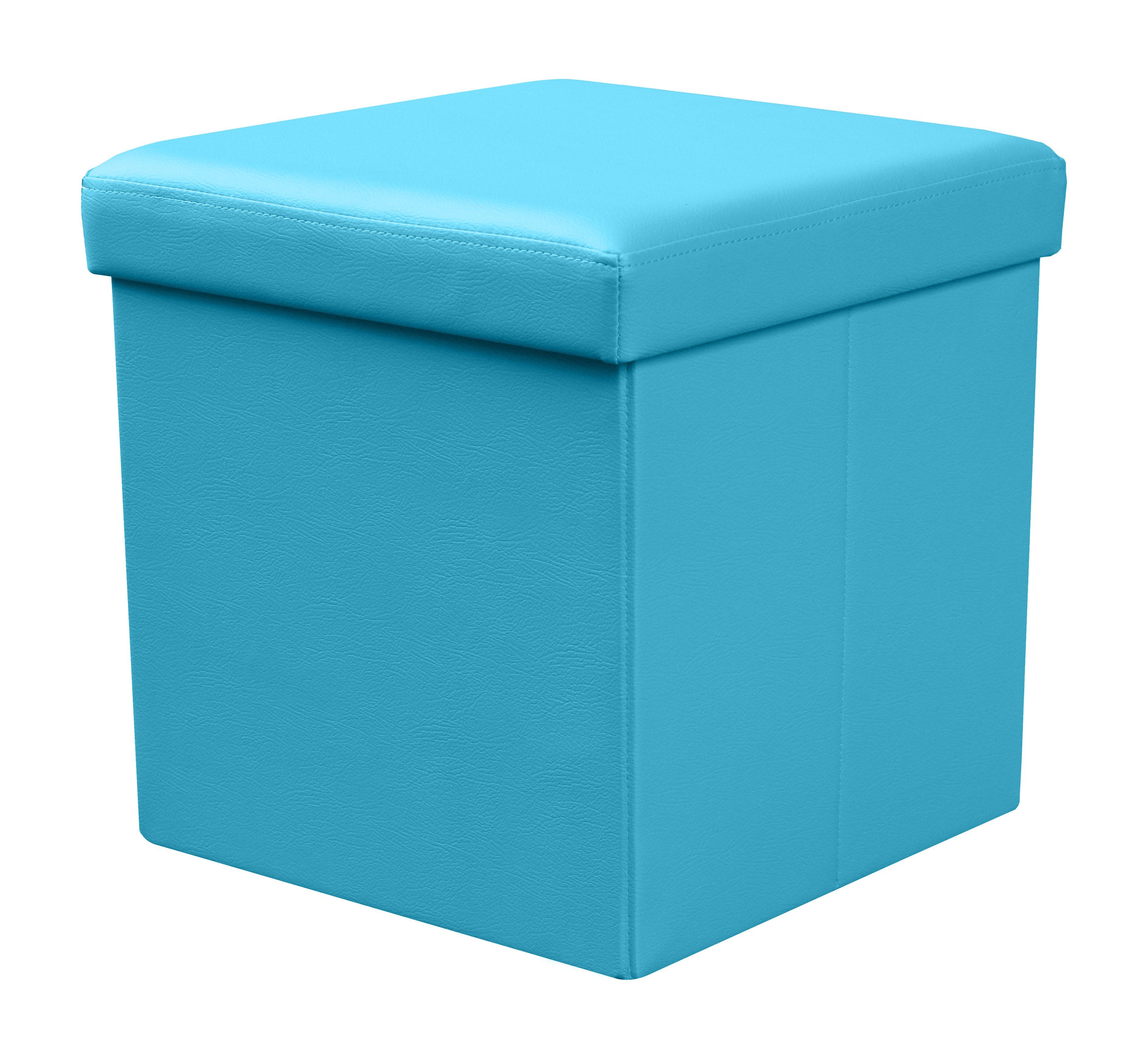 Taburet Moly albastru