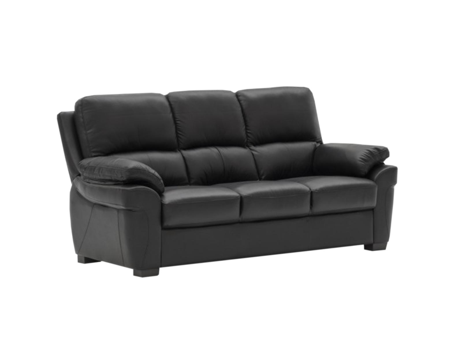 Canapea fixa 3 locuri Monzano Black