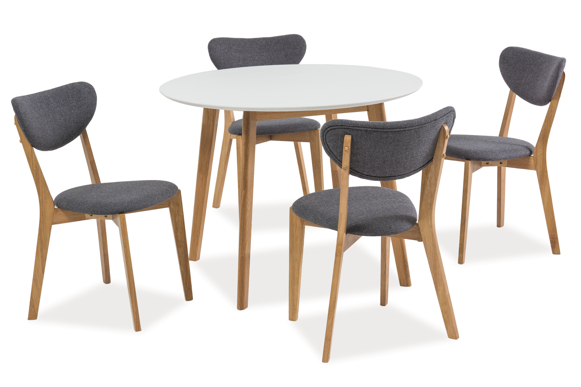 poze cu Set Masa Mosso II White + 4 scaune