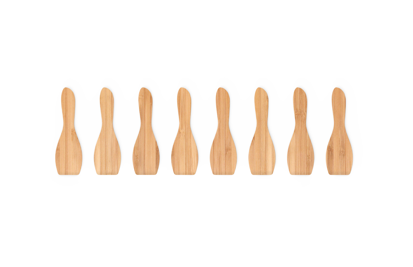 Set 8 Spatule Bambus, Natural
