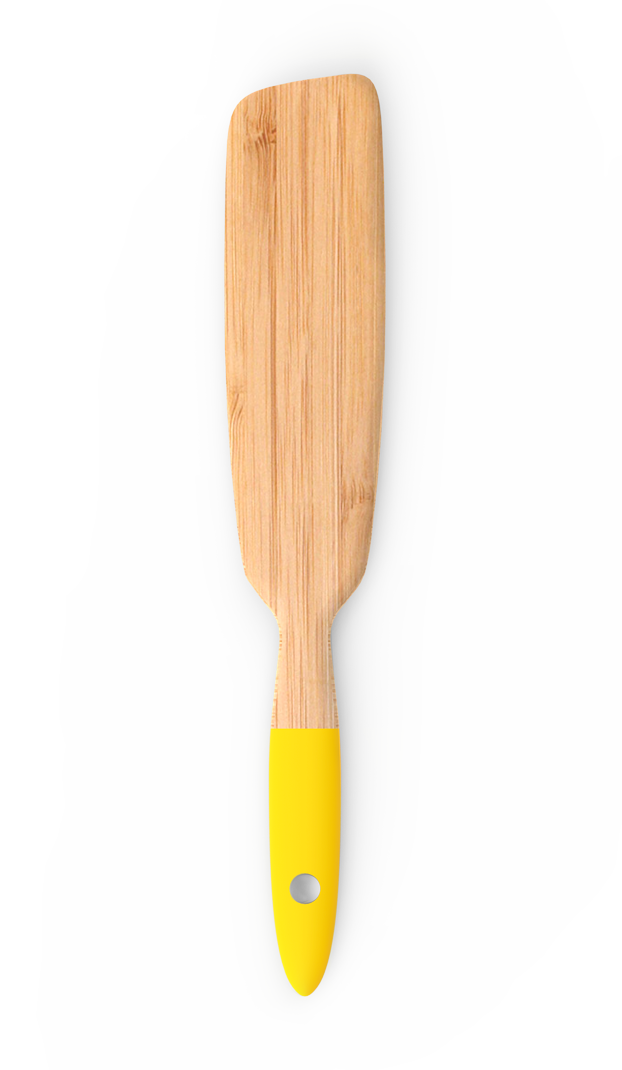 Spatula lunga de bambus, Yellow, NBA047