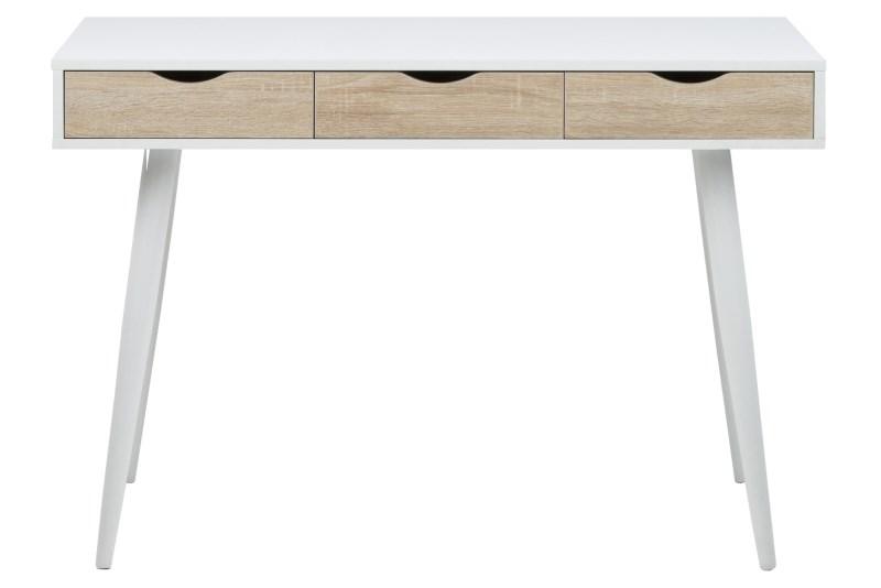 Masa de birou Neptun White/Oak, L110xl50xh77 cm