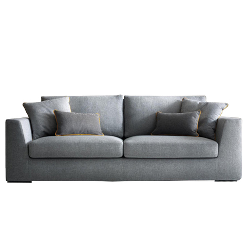 Canapea fixa 3 locuri Nettuno Grey, l210xA98xH87 cm imagine