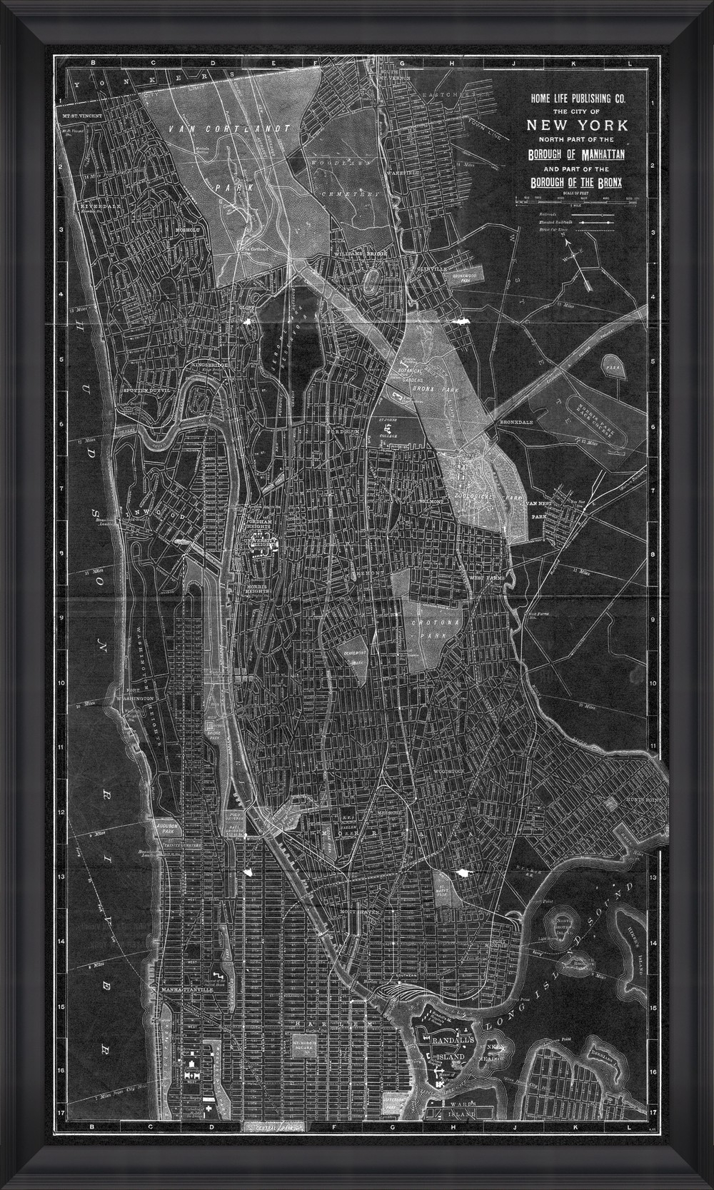 Tablou Framed Art New York Manhattan Map I