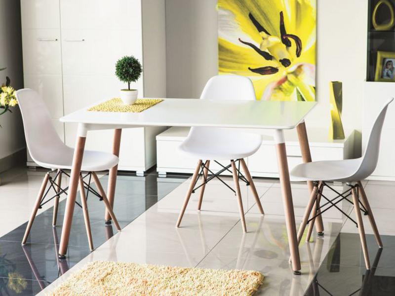 poze cu Set masa MDF si lemn masiv Nolan + 4 scaune Enzo
