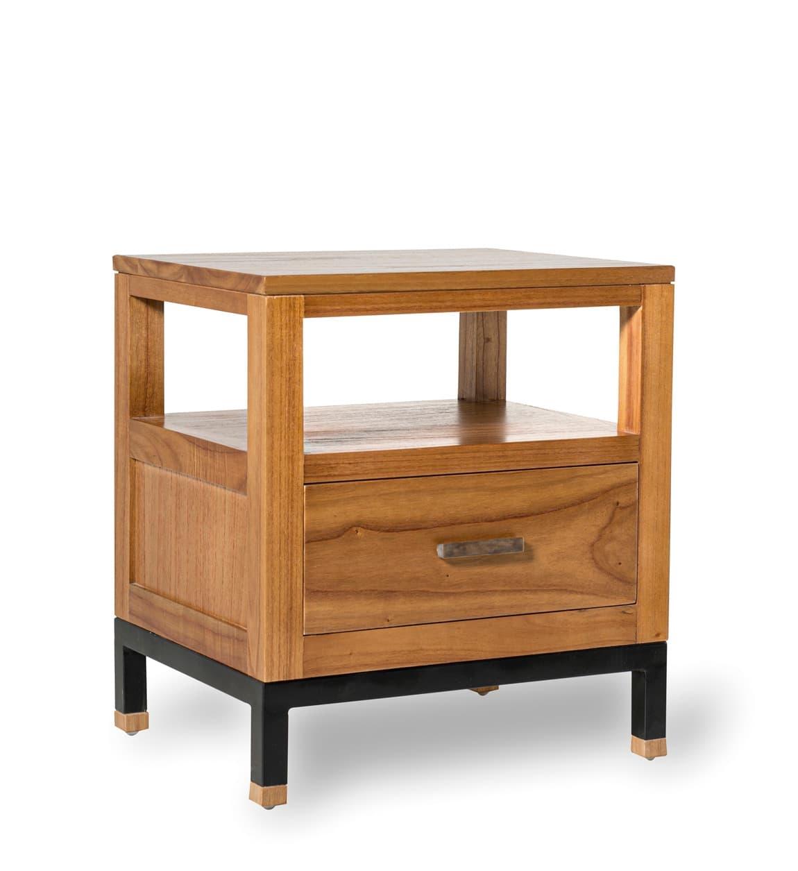 Noptiera din lemn cu 1 sertar, Madhu Natural, l50xA40xH55 cm somproduct.ro