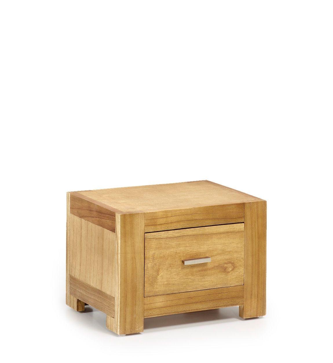 Noptiera din lemn, cu 1 sertar Mesita Natural, l50xA35xH35 cm imagine