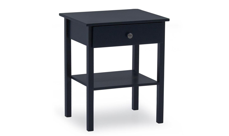 Noptiera din lemn de pin si MDF cu 1 sertar Wilow Dark Blue l50xA40xH60 cm