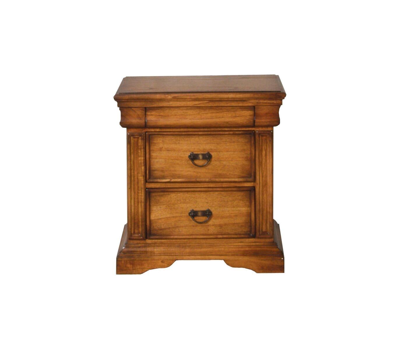 Noptiera din lemn de stejar cu 3 sertare Valentino Oak l64xA53xH69 cm