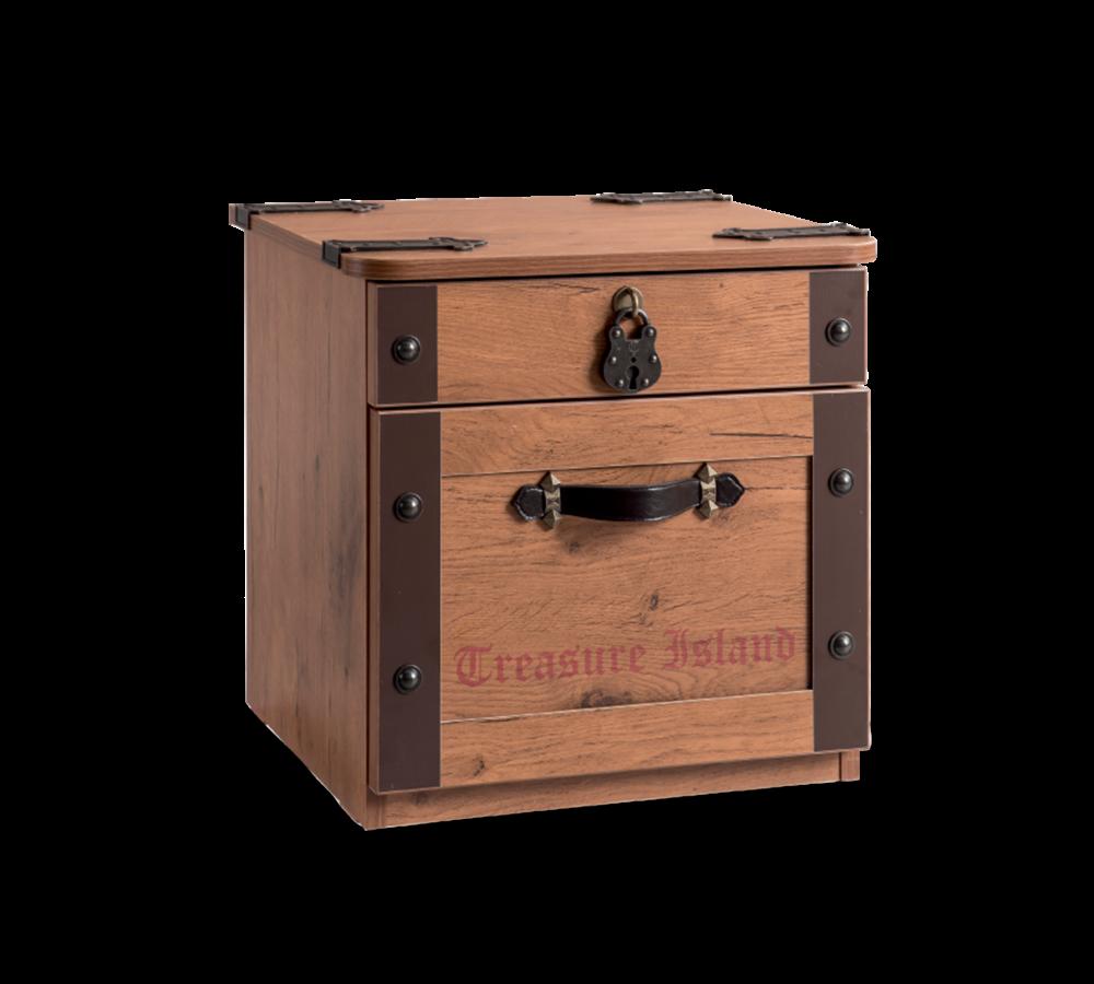 Noptiera din pal cu 2 sertare pentru copii Pirate Brown l44xA42xH44 cm