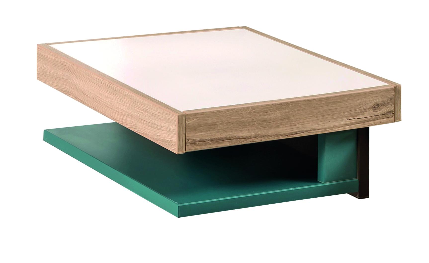 Noptiera din pal pentru tineret Lofter Cream / Turquoise l33xA40xH15 cm
