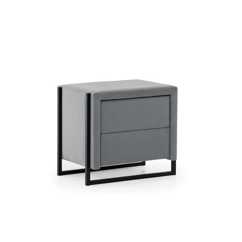 Noptiera tapitata cu stofa, 2 sertare, Soft Loft, l53xA37xH46 cm imagine