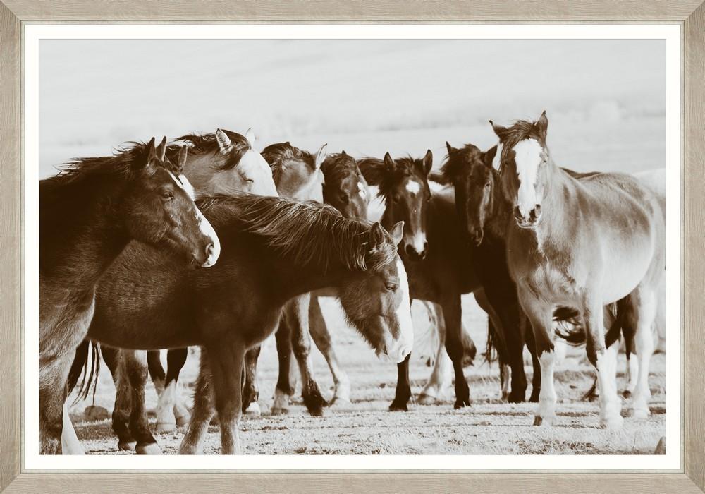Tablou Framed Art Nordic Horses
