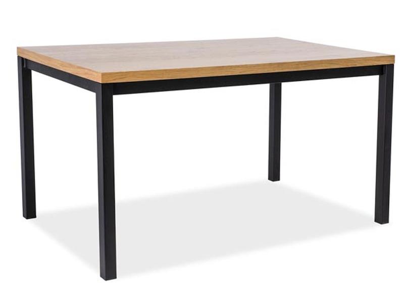 Masa din metal si lemn de furnir Normano, L120xl80xh77 cm poza