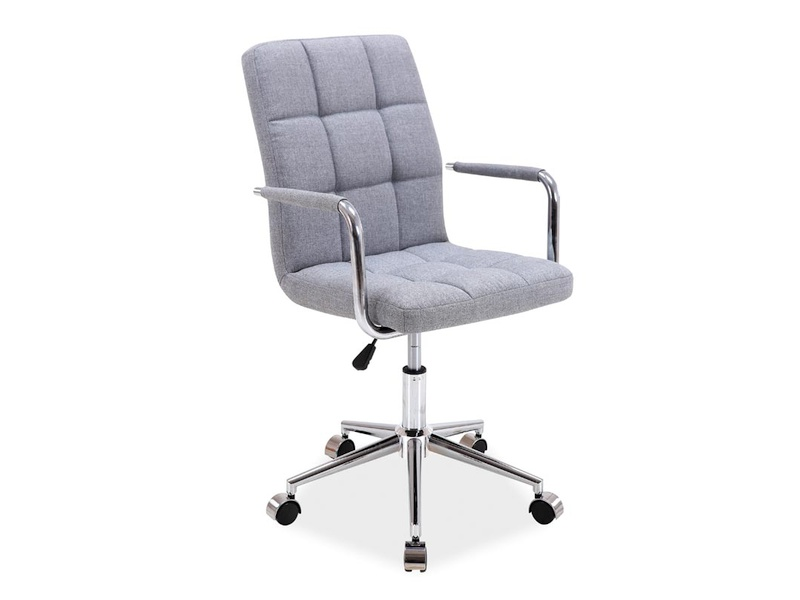 Scaun de birou pentru copii, tapitat cu stofa Q-022 Light Grey, l45xA40xH87-97 cm