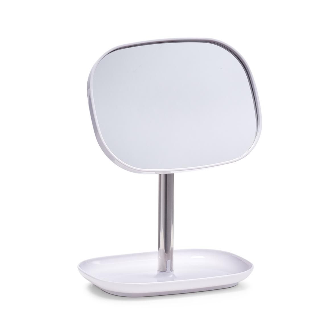 Oglinda cosmetica cu spatiu pentru produse Otel inoxidabil l178xA128xH24 cm