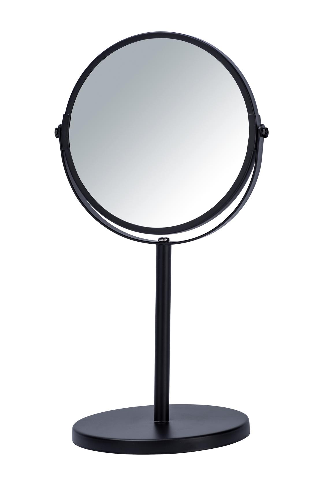 Oglinda cosmetica de masa, Assisi Negru, Ø16xH34,5 cm imagine