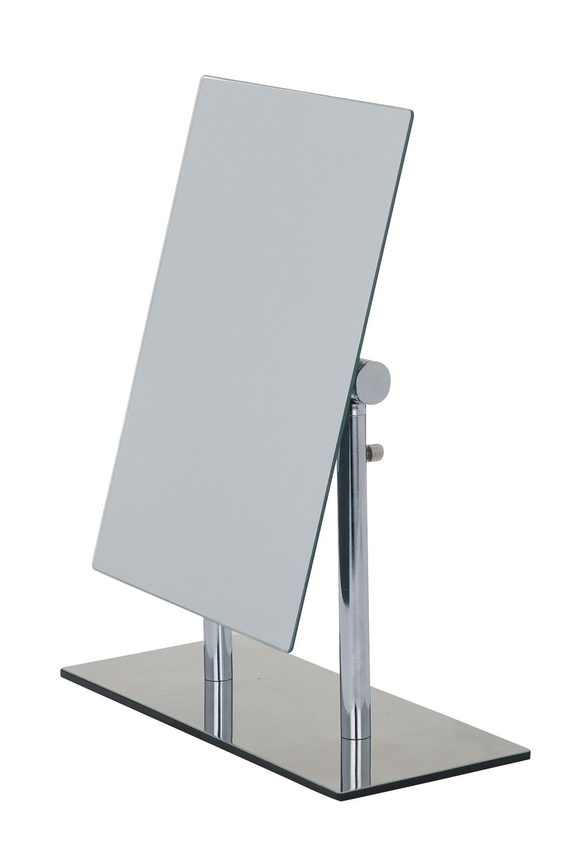 Oglinda cosmetica de masa, cu inaltimea reglabila, Pinerolo Crom, L23xl10xH27-35 cm poza
