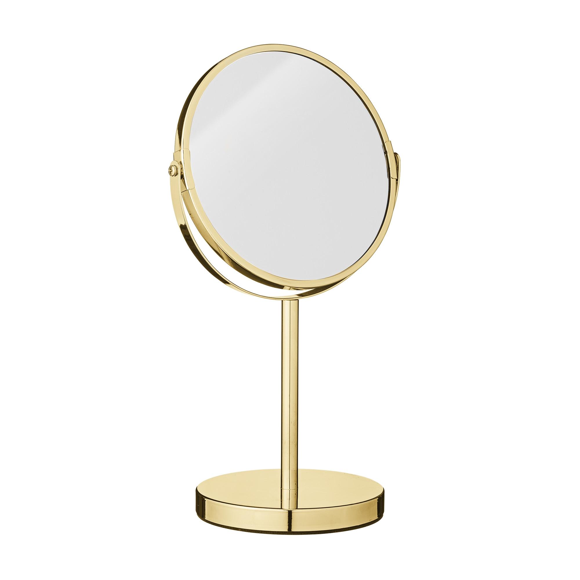 Oglinda cosmetica de masa, Goldy Auriu, Ø20xH35 cm