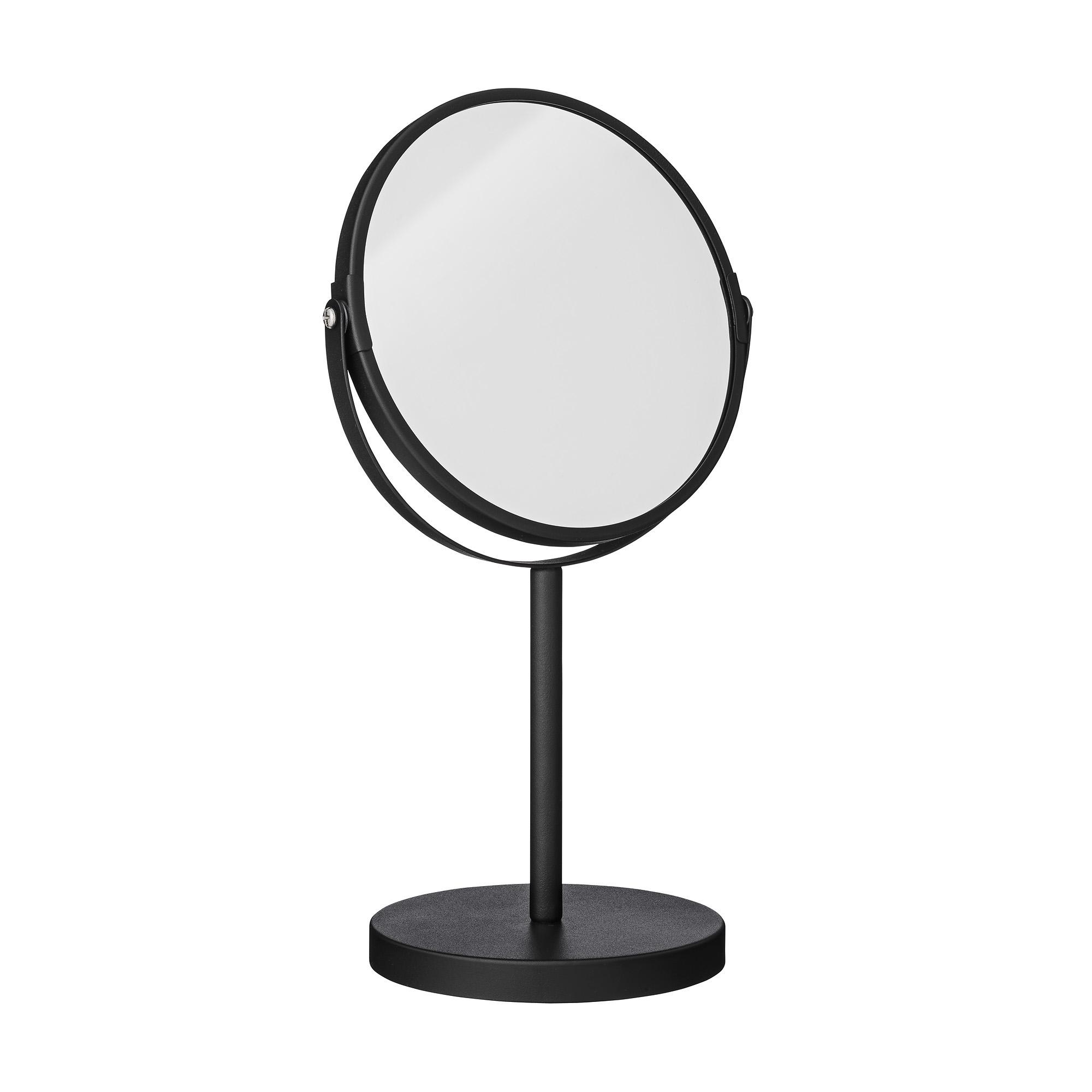 Oglinda cosmetica de masa, Goldy Negru, Ø20xH35 cm imagine