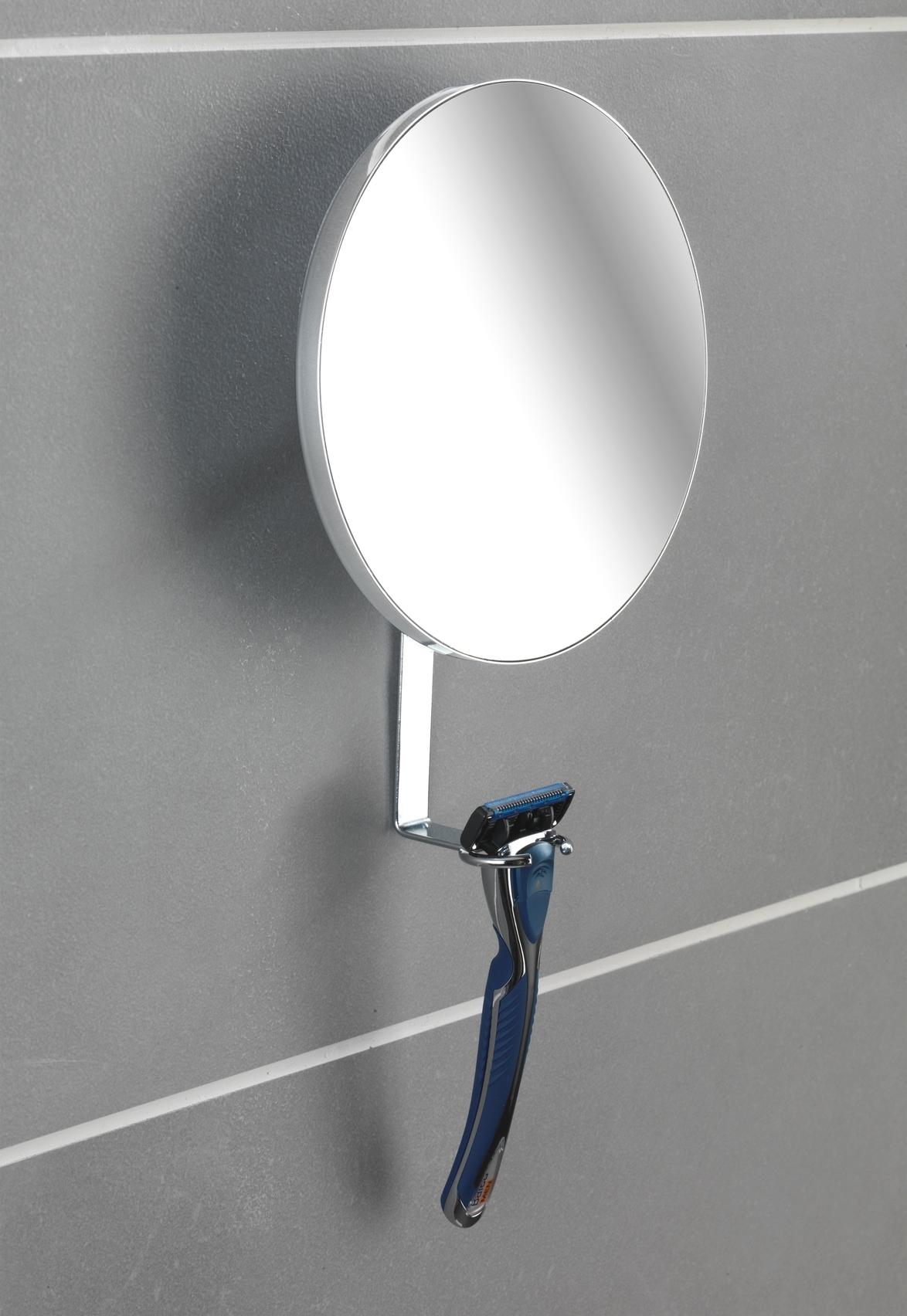 Oglinda cosmetica de perete, cu suport lama de ras, Turbo-Loc Crom, Ø17xA4xH23 cm imagine