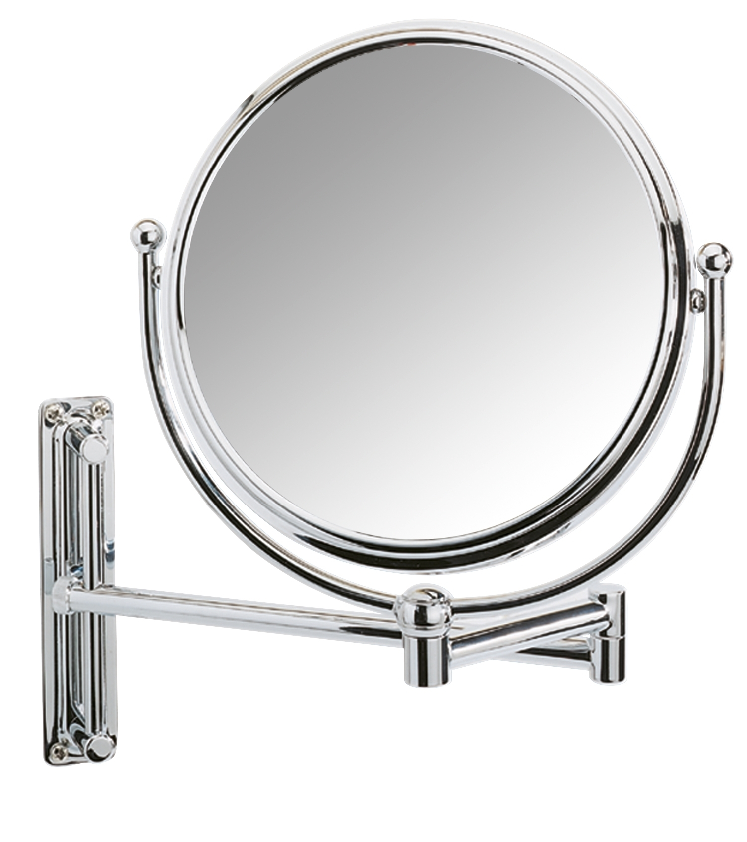 Oglinda cosmetica de perete, extensibila, Deluxe Crom, Ø19xl23-33xH28,5 cm imagine