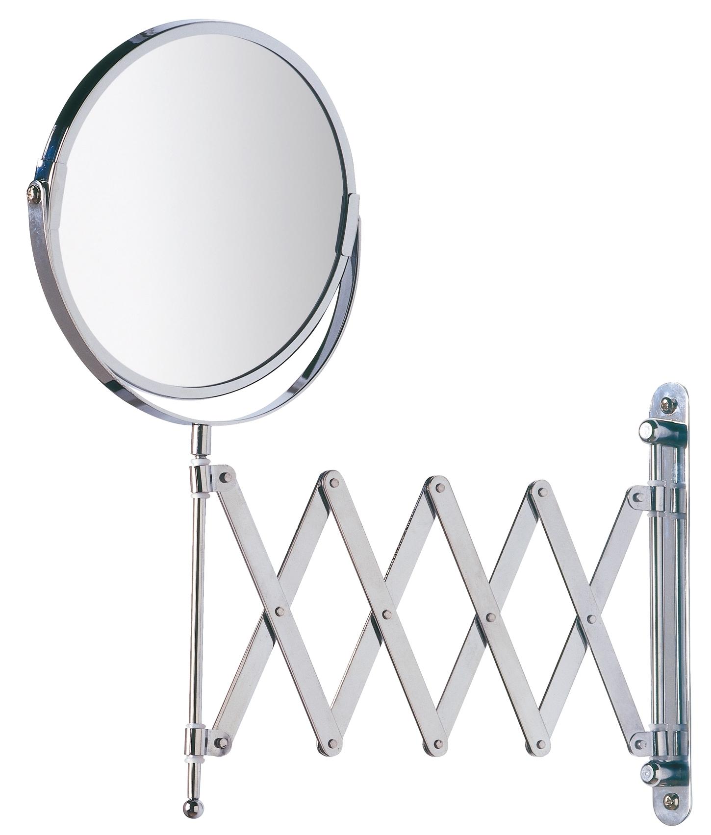 Oglinda cosmetica de perete, extensibila, Exclusiv Crom, Ø16xl19-50xH38,5 cm
