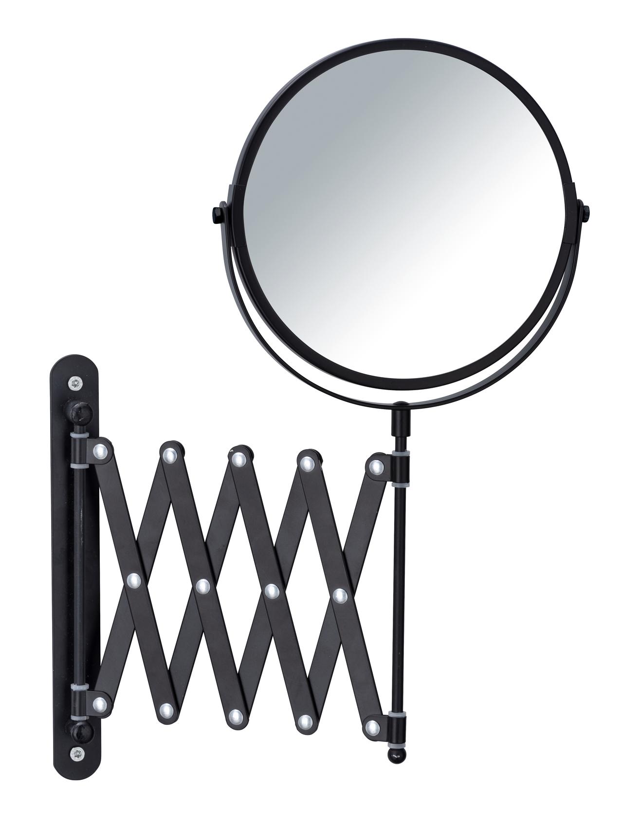 Oglinda cosmetica de perete, extensibila, Exclusiv Negru, Ø16xl19-50xH38,5 cm poza