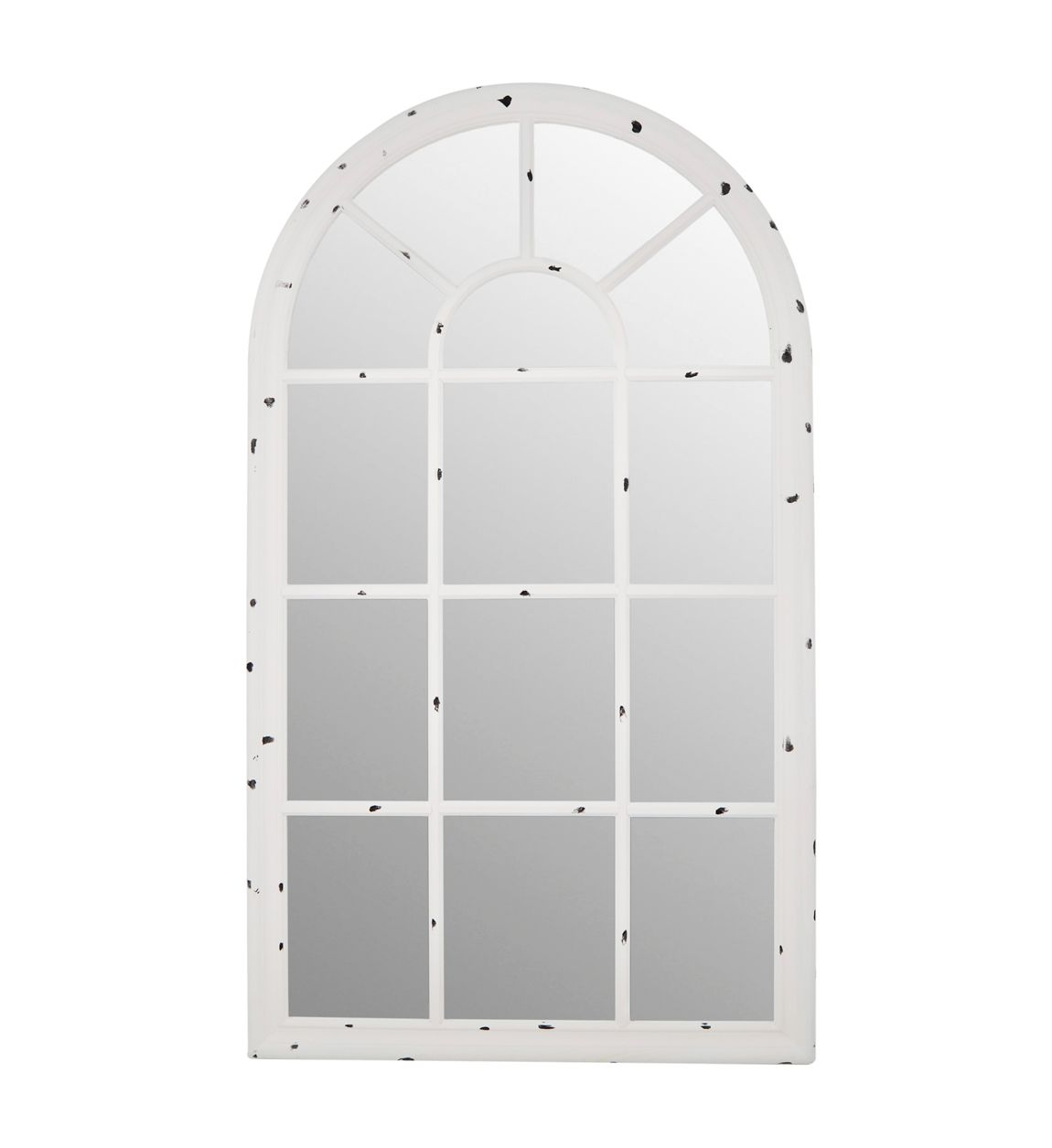 Oglinda decorativa cu rama din lemn, Dakota Alb, L140xl80 cm