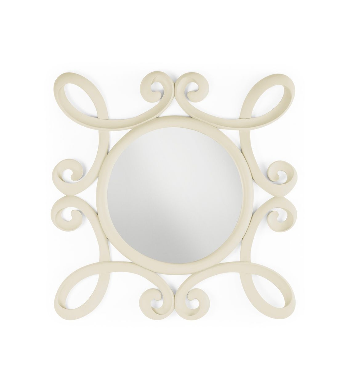 Oglinda Decorativa Rama Lemn Vintage Alb