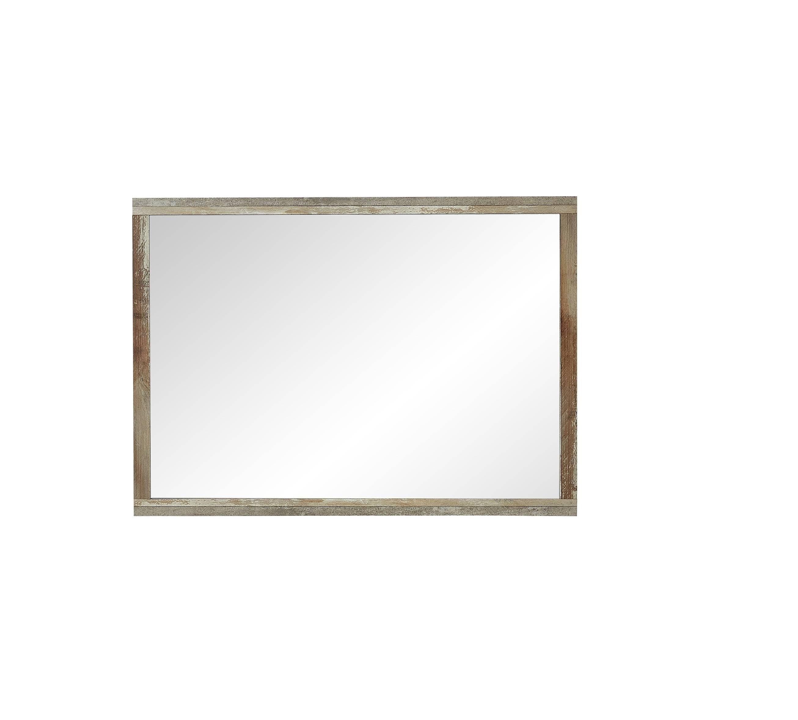 Oglinda decorativa cu rama din pal Bazna Natur / Gri inchis, l97xH70 cm somproduct.ro