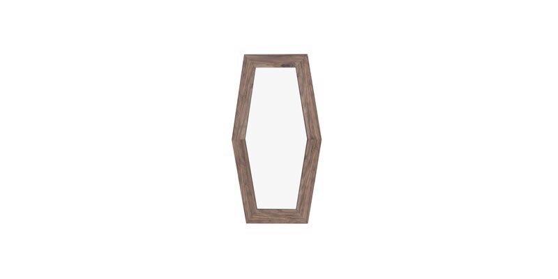 Oglinda decorativa cu rama din pal Elita Big Natural, L51,4xl86,2 cm imagine